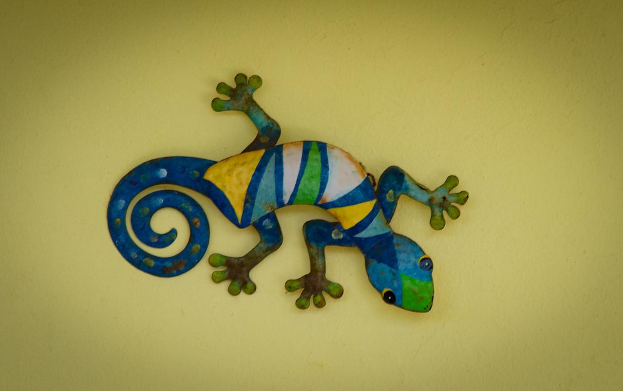 Colorful Metal Gecko