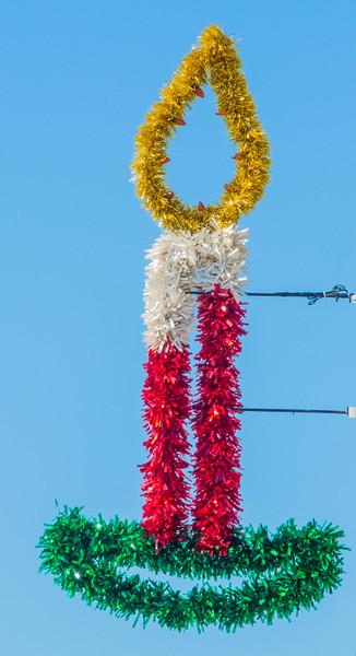 Christmas decorations on Indialantic main street<br /> Light the lights!
