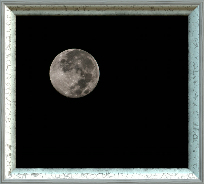 Photo of the Super-moon taken hand holding my Nikon D300S with my Nikon 70-200 mm f2.8 lens, and a Nikon 1.7X Teleconverter on August 11, 2014.