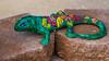 A colorful ceramic Gecko