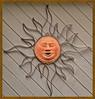 Copper Sun Face Wall Decoration