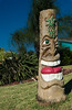 Tiki Carving in front of somebody's yard