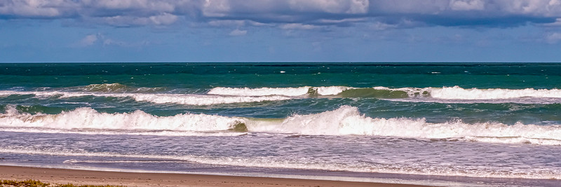 Wave action of the Atlantic Ocean close to where we live.