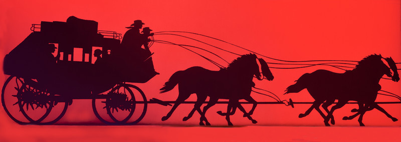 • Location - Indialantic Neighborhood<br /> • Horses and Coach on the Wells Fargo's sign