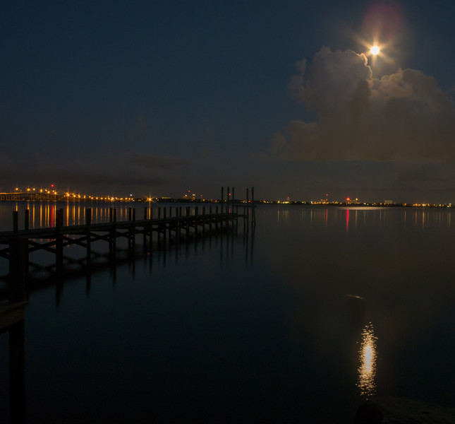 View from Sunset Park looking at the Blue Moon and Melbourne Causeway