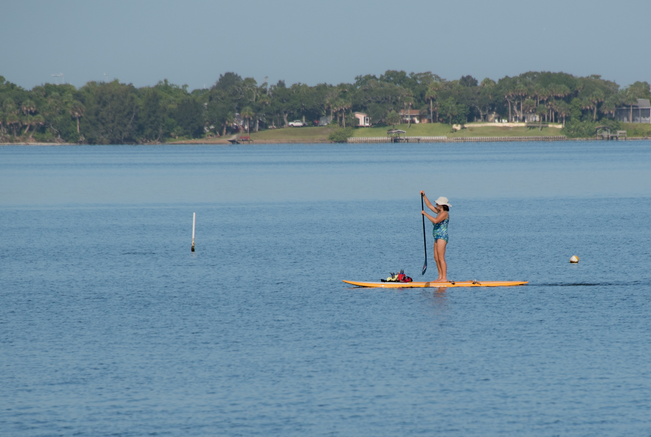 • Location - Melbourne Beach<br /> • A lady paddling down the Indian River
