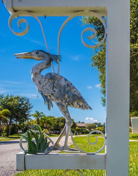 • Location - Indialantic<br /> • Metal Heron under a mailbox