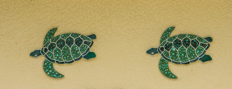 • Location - Indialantic <br /> • A Pair of Decorative Ceramic Wall Turtles
