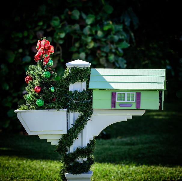 Colorful Christmas Mailbox