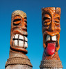 A pair of Totem Poles