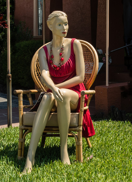 Lady Mannequin in front of a store