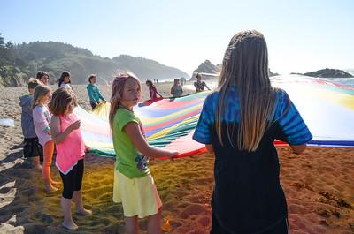 Parachute at the beach