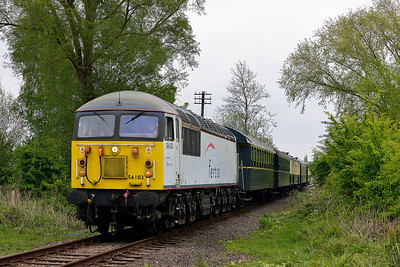 Class 56 No 56103 at Castor on 18 May 2013 with the 2M50 14:33 Peterborough - Wansford