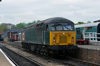 Class 56 No 56303 in Wansford Station on 18 May 2013