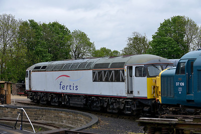 Class 56 No 56103 in Wansford Yard on 18 May 2013
