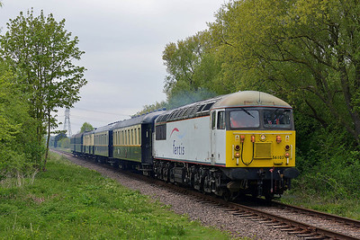 Class 56 No 56103 at Castor on 18 May 2013 with the 2E50 13:41 Wansford - Peterborough