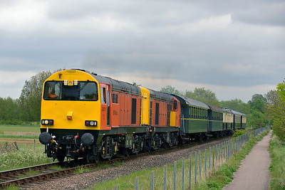 Class 20 No 20311/20314 at Castor on 18 May 2013 with the 1M46 11:38 Peterborough - Wansford