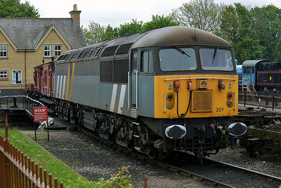 Class 56 No 56301 in Wansford Yard on 18 May 2013
