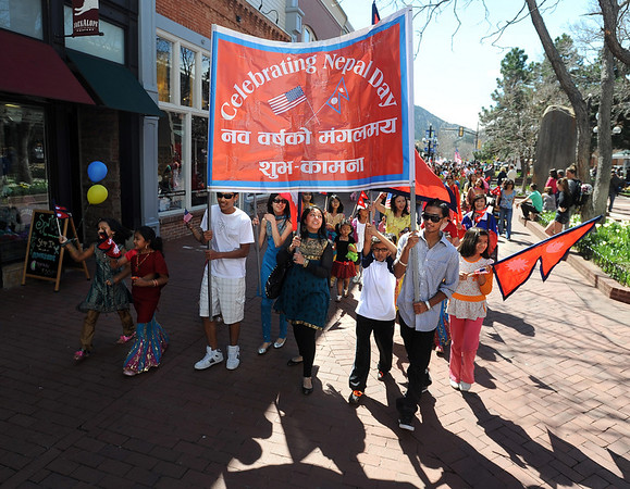 "Residents in and around Boulder, celebrated Nepal Day 2011 with a parade down Pearl Street.<br /> For a video and photo gallery of the Nepal Day, go to  <a href=""http://www.dailycamera.com"">http://www.dailycamera.com</a>.<br /> Cliff Grassmick/ April 16, 2011"