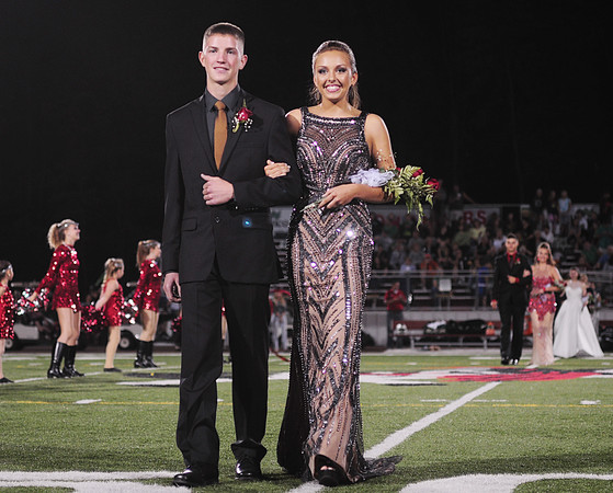 Juniors Emma Weatherby and her escort Ean Oprean.