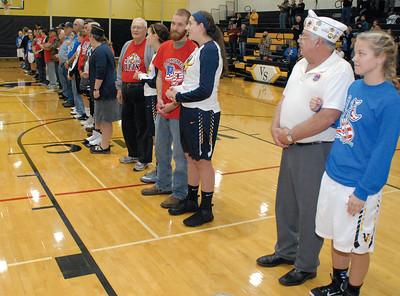 Nets for Vets at the Vinton-Shellsburg-Belle Plaine Girls Basketball game
