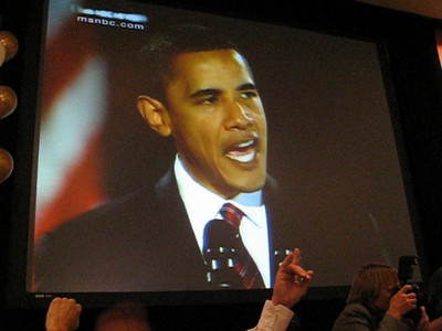 Video of Nevada Democratic Party crowd at Rio Hotel in Las Vegas going wild as Obama speaks after winning President nomination.