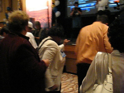 Video of Nevada Democratic Party crowd dancing together at Rio Hotel in Las Vegas before Obama has even been anounced President.