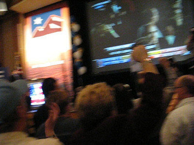 Video of Nevada Democratic Party crowd at Rio Hotel in Las Vegas going wild before Obama has even been anounced President.