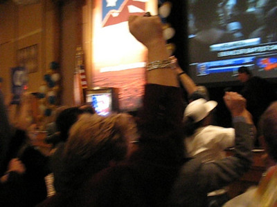 """Video of Nevada Democratic Party crowd at Rio Hotel in Las Vegas chanting """"Yes We Can"""" before Obama has even been anounced President."""