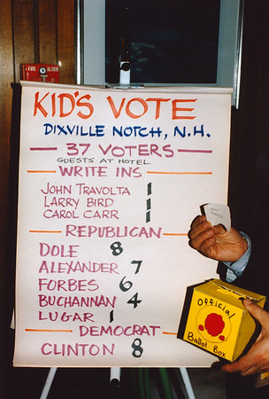 New Hampshire Primary/Dixville Notch 1996