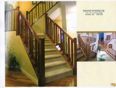 These are the stairs we are probably going to have with wood and metal spindles.  These are the metal spindles we like.