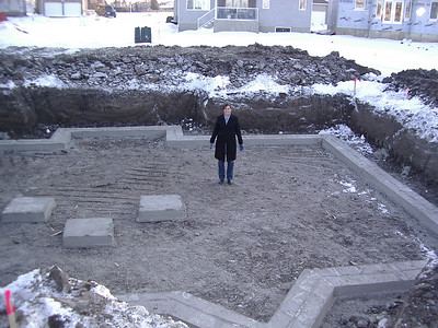 The footings of our new basement, Wed. Feb 14th 2007