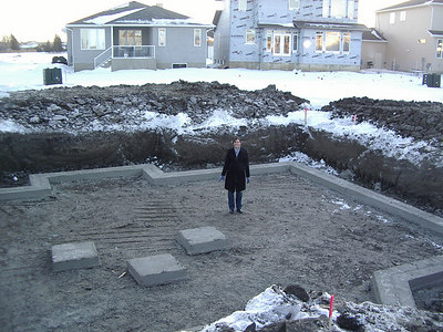 The footings of our new basement, Wed. Feb 14th 2007 oh and Tanya