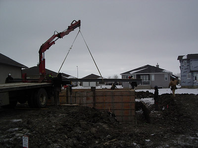 This is our steel beam going in, Feb16, 2007