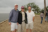 David, Richie and Joel on the beach at Lake Pontchartrain.