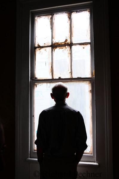 Merv in a contemplative moment, backlit.