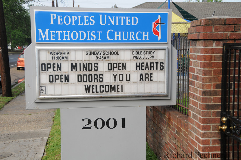In front of our compound in the Peoples United Methodist Church.