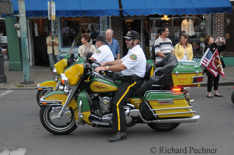 Jerusalem Motorcycle Escort participating in the Easter Parade.