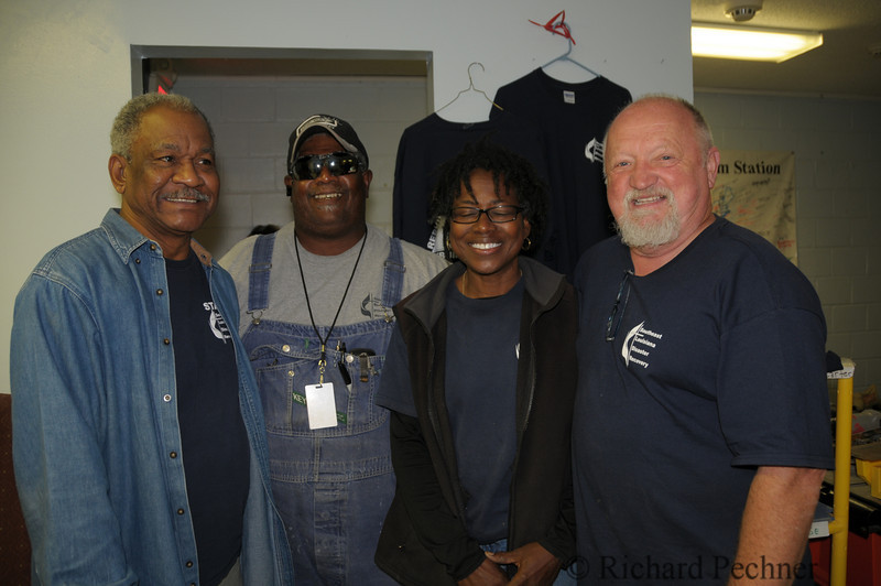 Staff members Leonard Carter, Dwight Lynn, Phyllis Jefferson and Chris Hilbun of the United Methodist Southeast Louisiana Disaster Recovery Center.  These folks are on the front lines daily managing the nearly impossible.