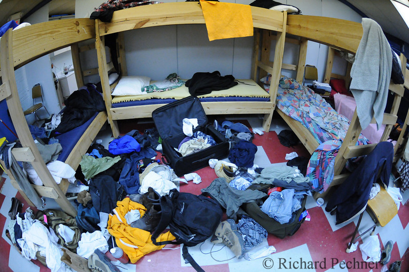 Fisheye view of the boys dorm.  It did take 3 days for it to look like this.