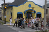 """""""No Name"""" band participating in an adhoc parade.  Seems like there is a parade around every corner in New Orleans suring Easter."""