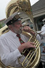 Tuba player for the Storyville Stompers.