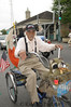 Early Obama supporter riding in the Easter Parade.