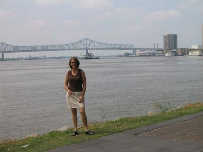 Maureen on the Mississippi River - New Orleans