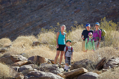 With Joe (Mo's Dad) and Cindi in Palm Canyon, Anza Borrego