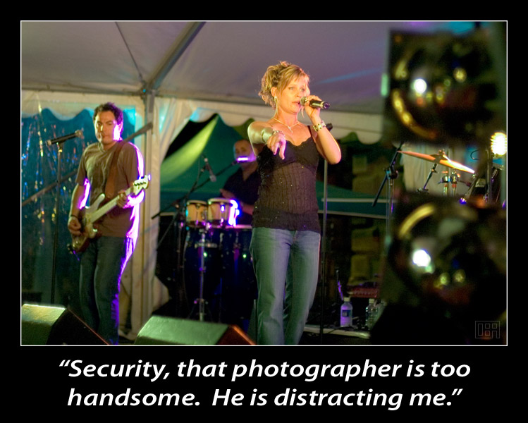 """""""Security, that photographer is too handsome. He is distracting me."""""""