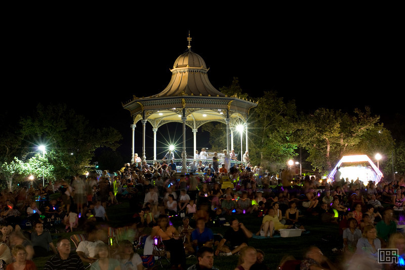 The NYE party in Elder Park
