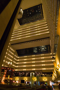 Lobby of the Hotel Marriott Marquis. Big place. 48 stories. It's dark inside though. At least all the times I was there. This is from the lobby which is on the 8th floor. Lobby on the 8th floor. Go figure.