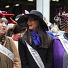 Women wearing Milliners Guild sashes at New York City's Easter Parade