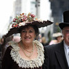 A couple at New York City's Easter Parade
